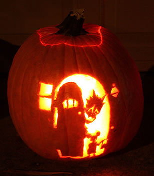 Halloween Pumpkin Door