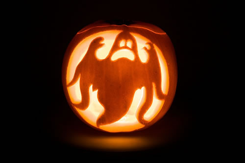 Halloween Pumpkin Ghost