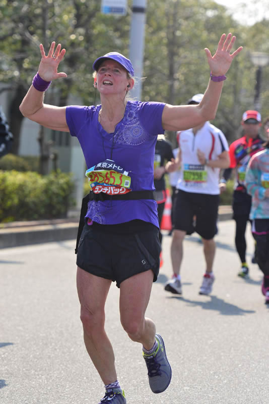 Beth Whitman Finish tokyo marathon