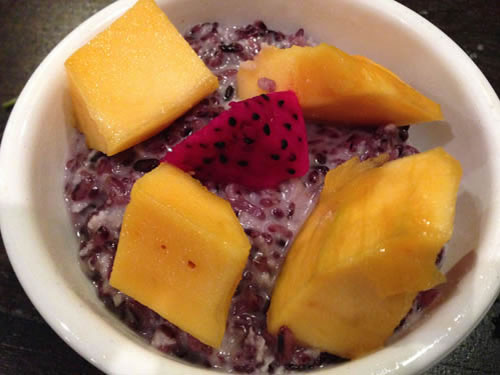 Black Rice Mango Pudding Thailand