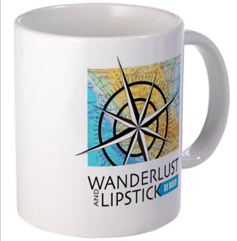 Wanderlust and Lipstick Mug